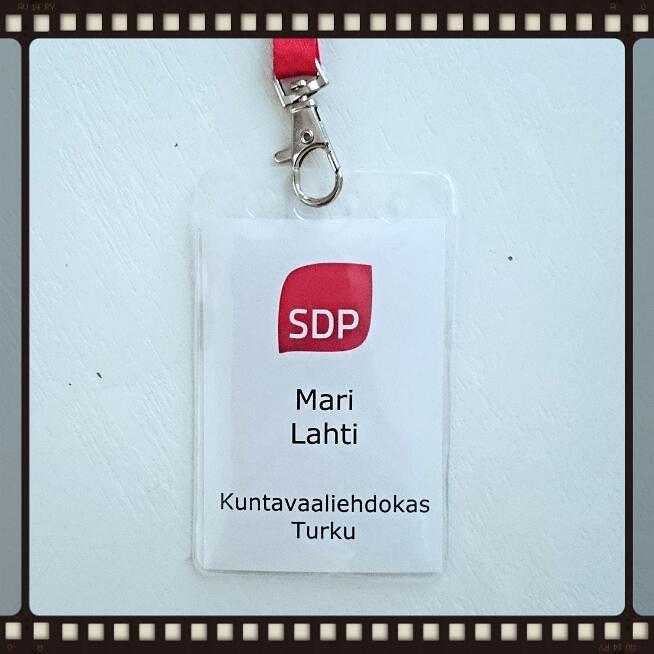 Tämän Mari Lahti -kuntavaalilapun voit nähdä ylläni tapahtumissa ennen vaaleja.